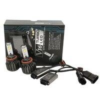 2PCS Lot H11 H8 60W 7200LM Set Turbo LED Automobile Headlights Kit Lightings 6000K Super Bright