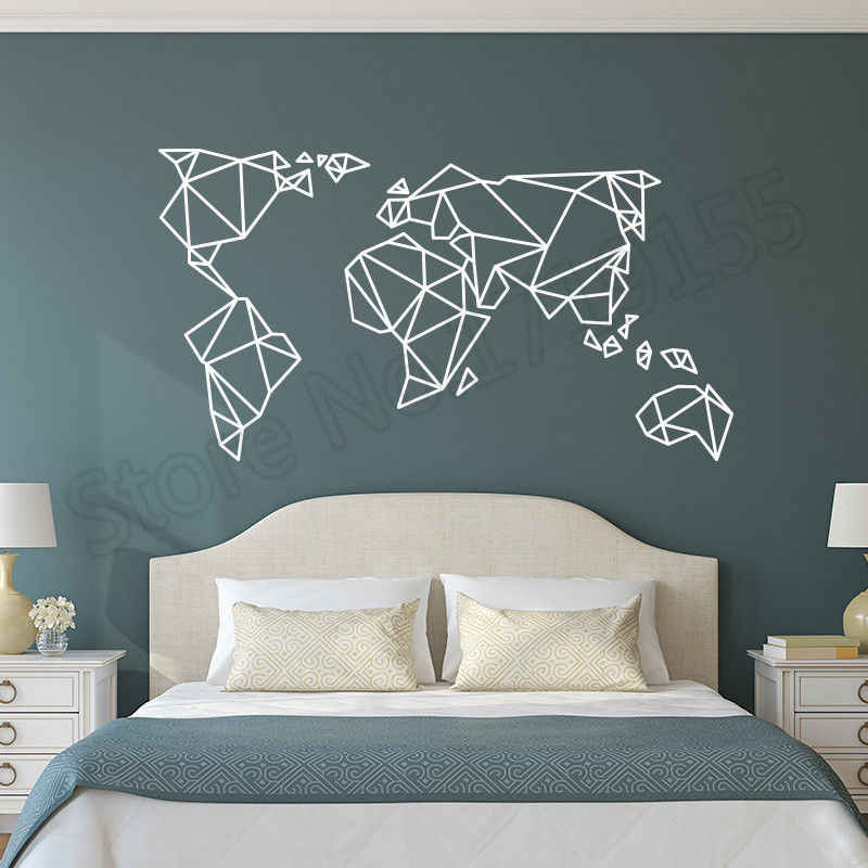 d9c3ac334 ... Origami World Map Wall Sticker Home Decoration Art Countries Decals  Kids Rooms Accessories Creative Interior Wall ...