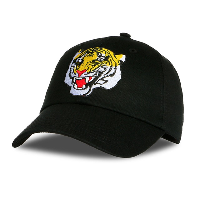 Hot Embroidery Animal Tiger dad Hats Baseball Caps Black Snapback Hats Men  hip hop homme gorras mujer casquette 9f0ee83749e1