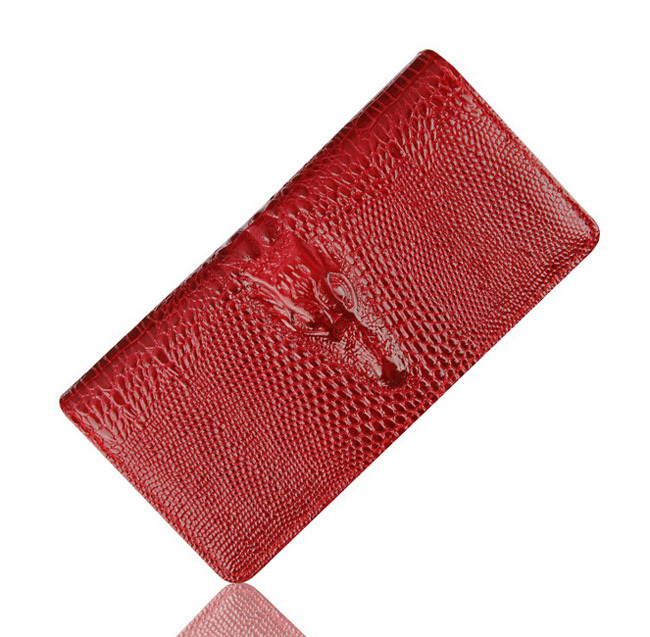Fashion women purse wallet Alligators patent Leather ladies long section clutch card holders wallets female brand free shipping 2016 new high quality ladies purse fashion women bifold leather clutch card holder purse long handbag female long section wallet