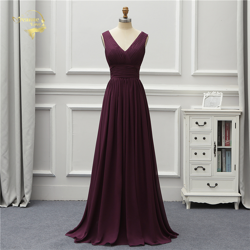 Jeanne Love Formal Luxury Long Evening Dress 2019 New Arrival V Neck Fashion Lace Prom Robe De Soiree Vestido De Festa OL5230