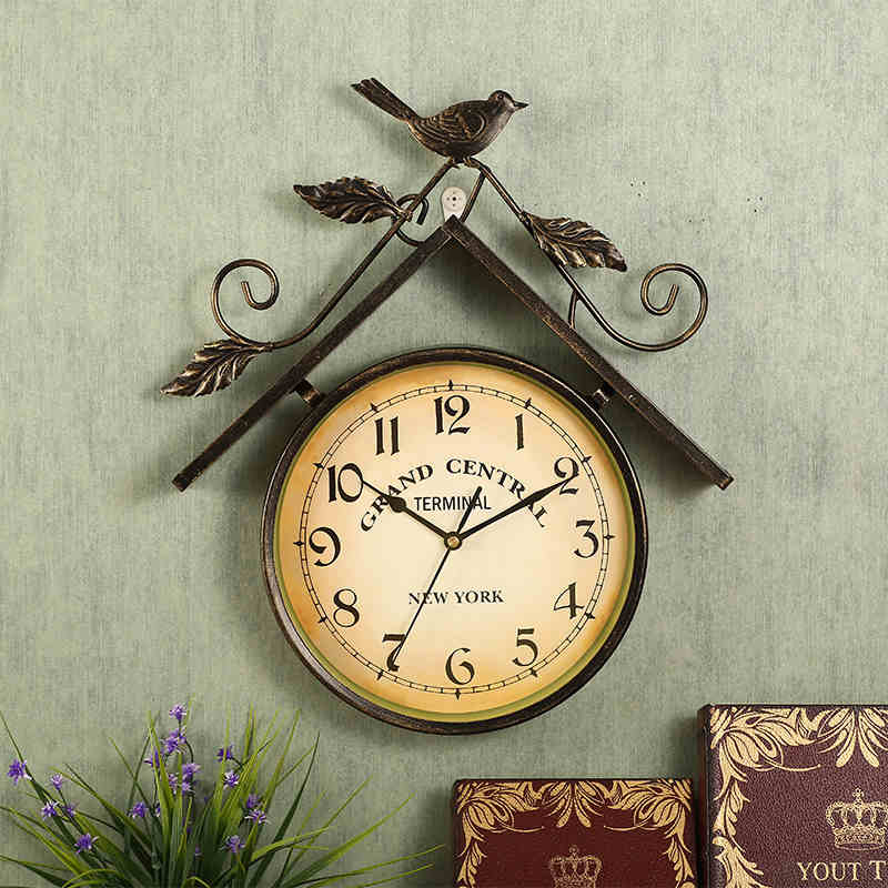 Clock Wall Decor online buy wholesale metal bird clock wall decor from china metal