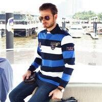 2018 осенний брендовый Мужской прямой Цветной полосатый деловой стиль свитер Акула высокое качество хлопок мужской s свитер с длинным рукаво...