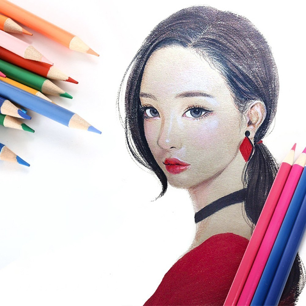 Lovely Genuine 120 cute oily color cartoon water-insoluble graffiti lead school-supplies pencil pen cute lovely color pencil drawing tutorial art book