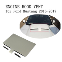 Front Engine Hood Air Heat Extractor Vent Decorative Plate Trim for Ford Mustang 2015 2017 PP Grey Car Accessories