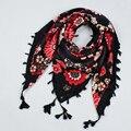 Bohemia Étnico Ladies Big Praça Scarf Impresso Mulheres Wraps Hot-Venda senhoras de Inverno Lenços de algodão da índia floural headband CX005
