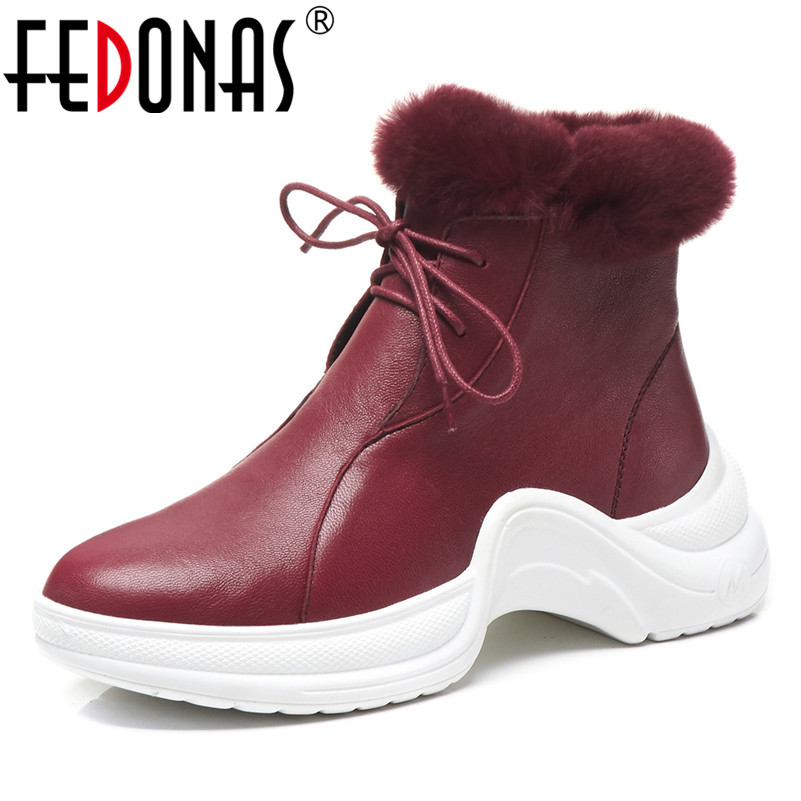 FEDONAS Retro Quality Women Ankle Boots Platforms Lace Up Short Martin Shoes Woman Brand Party Night Club Basic Boots