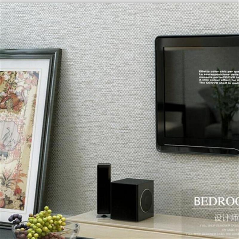 Beibehang Modern simple pure color silk linen pattern non   woven wallpaper vertical stripes hotel living room bedroom wallpaper beibehang shop for living room bedroom mediterranean wallpaper stripes wallpaper minimalist vertical stripes flocked wallpaper