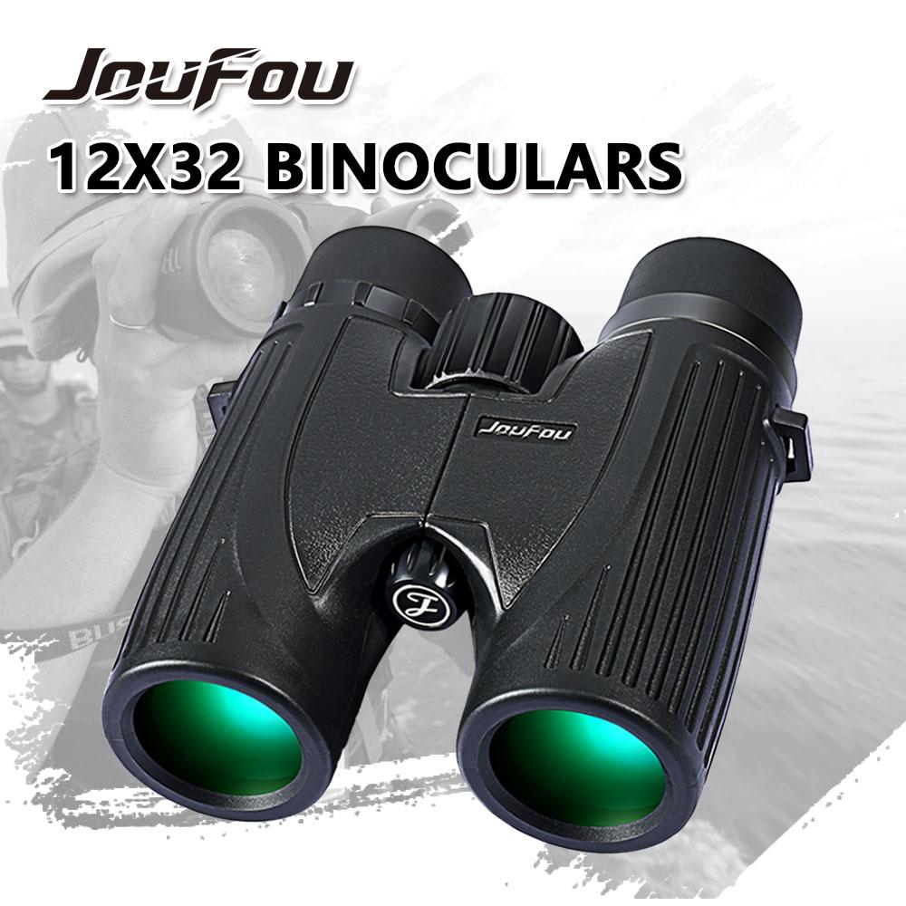 ФОТО JouFou 12X32 Waterproof Binoculars Wide Angle Hunting HD Optics High Quality Telescope For Camping Travel Day or Night  Vision