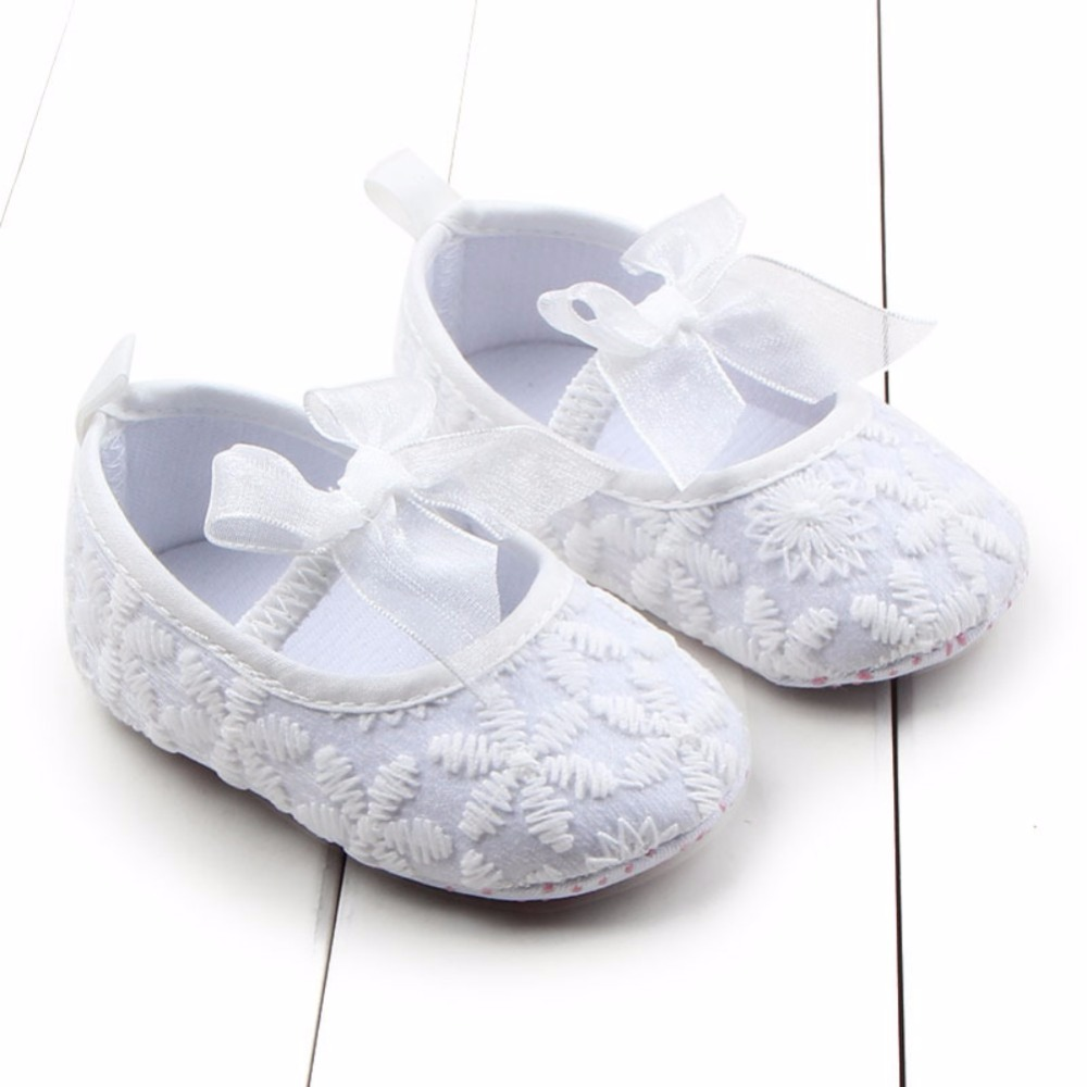 Newborn Baby Girl Shoes Princess Lovely Soft Sole Crib Baby Shoes Prewalkers 0-12M