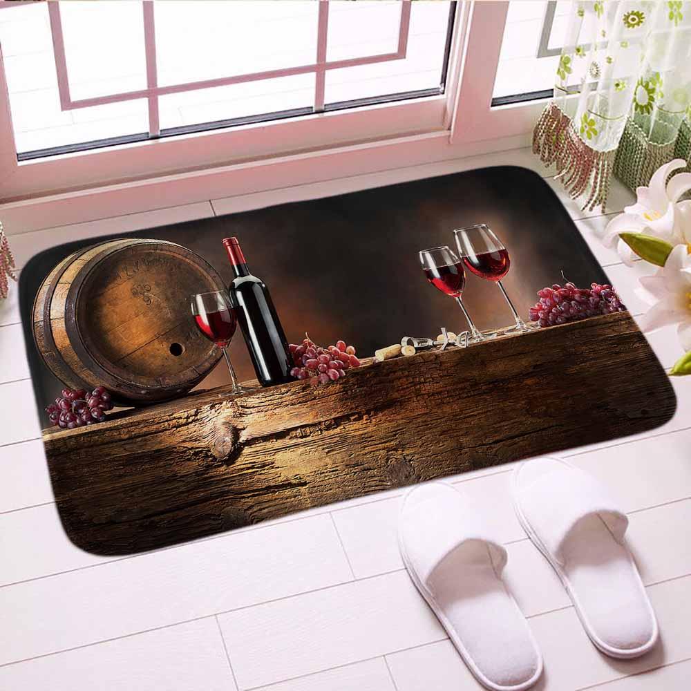 Red Wine Glass Indoor Floor Mat Ramantic Doormat Colorful Custom