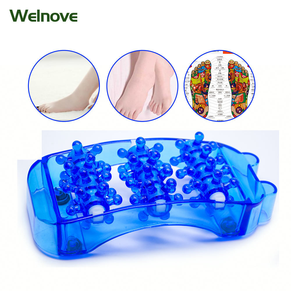 Foot Massager - Acupoint Massager Health Care Relaxation Plastic Roller Foot Massage Pain Stress Fatigue -1 Pair Z78901 hand massager ball roller finger rolling massage floating point acupoint blood circulation fitness health care stress relax