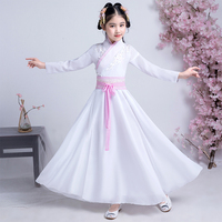 2019 Chinese Kids Costume Traditional Chinese Hanfu Girls Princess Dresses Tang Dynasty Folk Dance Performance Clothing DNV10932