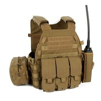 Outdoor Molle Vest Hunting Wargame Tactical Vest Army Airsoft Combat Pouch Vest Gear Black Military Paintball Equipment