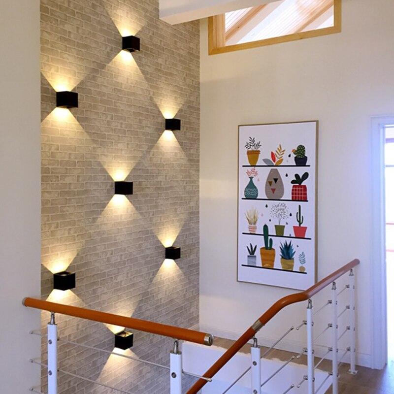 Открытый настенный светильник водонепроницаемый led современные creative hotel сад вилла двор ванная ночники