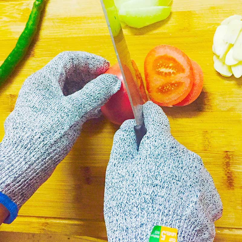NMSafety 2 Pairs Of CE Standard level 5 cut resistant gloves Safety Kitchen Cuts Gloves Mesh Butcher Anti-Cut Gloves volcanoes legend of batok volcano level 5
