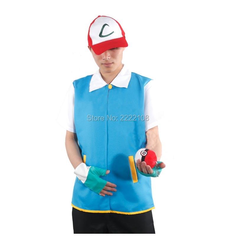 Аниме Pokemon Ash Ketchum Тренажер Костюм Cosplay - Костюмдер - фото 3