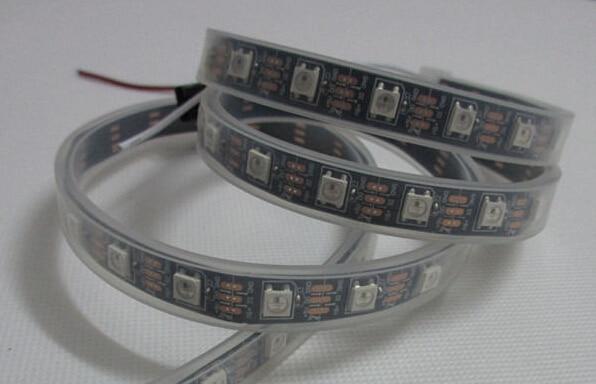 1M 30 pikselių individualiai papildomas WS2812B WS2812 5050 RGB LED lanksčios juostelės lengvas vandeniui atsparus IP67