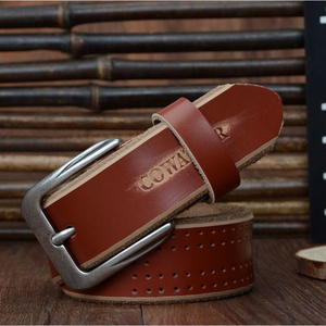Image 3 - COWATHER 2019 high quality cow genuine leather luxury strap male belts for men new fashion style pin buckle free shipping