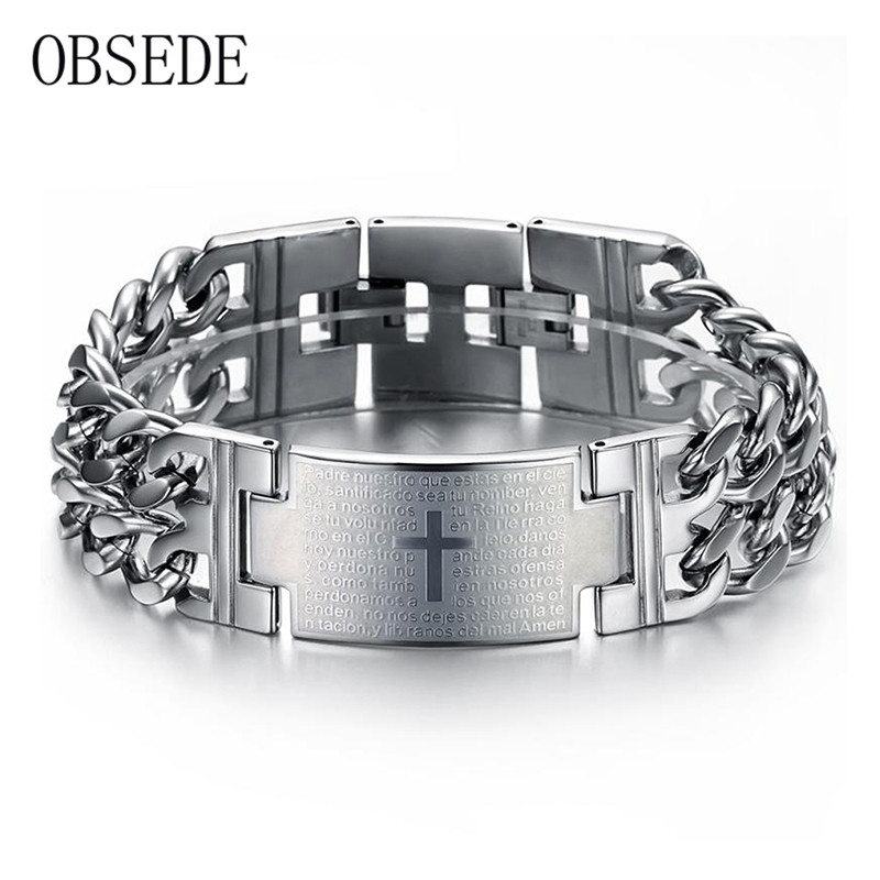 OBSEDE Stainless Steel Bracelets Jewelry Charm Chain Man