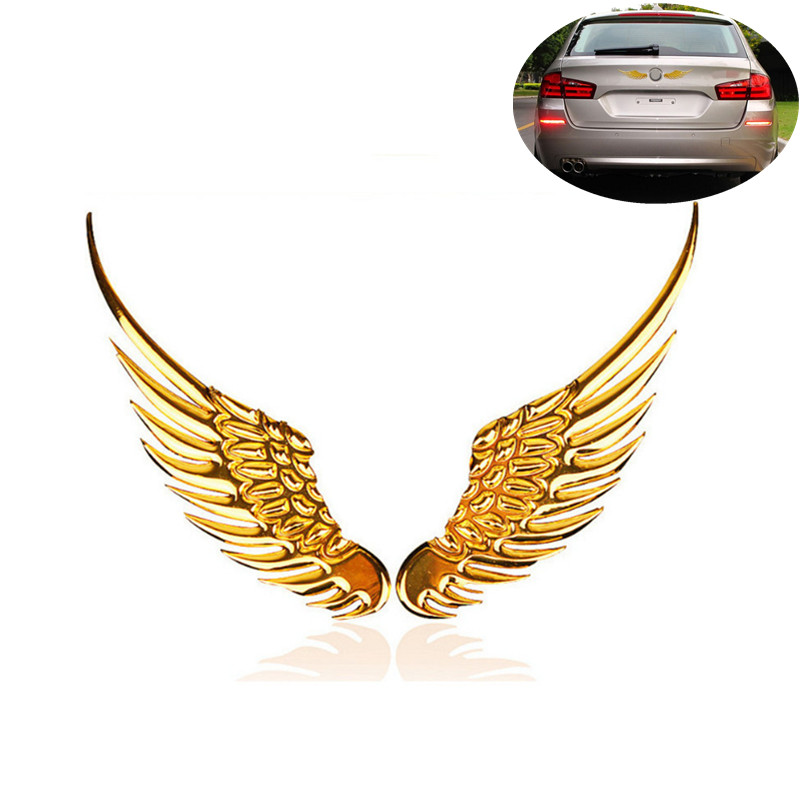 1 Pair Car Styling 3D Wings Car Sticker Car <font><b>Accessories</b></font> for <font><b>Mercedes</b></font> <font><b>Benz</b></font> A180 A200 A260 W203 <font><b>W210</b></font> W211 AMG W204 C E S CLS CLK image