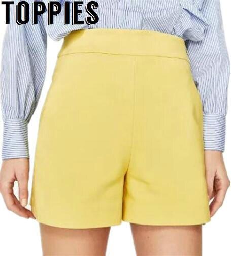Aliexpress.com : Buy 2017 Women High Waisted Zipper Shorts Cotton ...