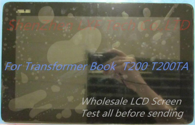 Original 100% new For Asus Transformer Book T200TA T200 Full LCD Display Panel Touch Screen Digitizer Glass Assembly With Frame