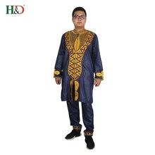 Африканская мужская одежда Базен Риш африканские платья для мужчин Дашики Африка мужская одежда рубашки топ брюки комплект ropa africana hombre