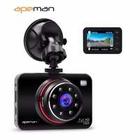 Apeman DVR Dash Cam Camcorder C660 1080p IR Night Vision Car Video Recorder Camera With 2