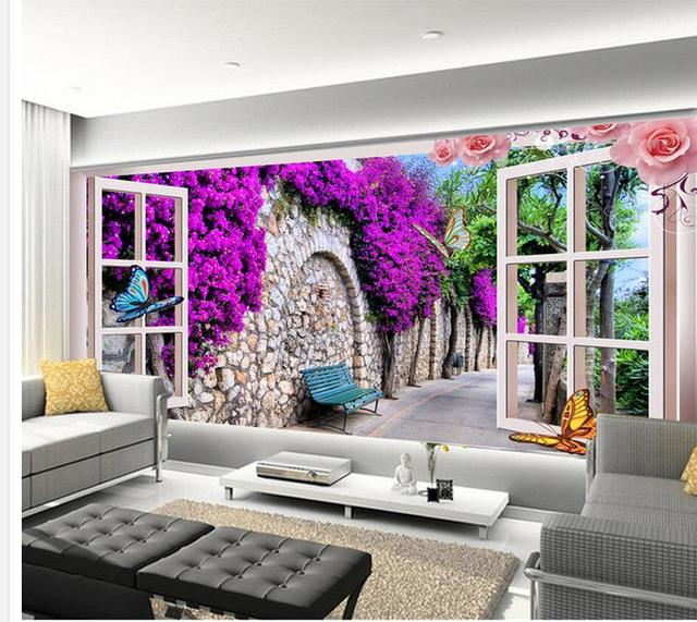 3d Wallpaper Für Zimmer Garten Villa Blume Rattan Hintergrund Mural Malerei  Fotos Wand Papier Dekoration