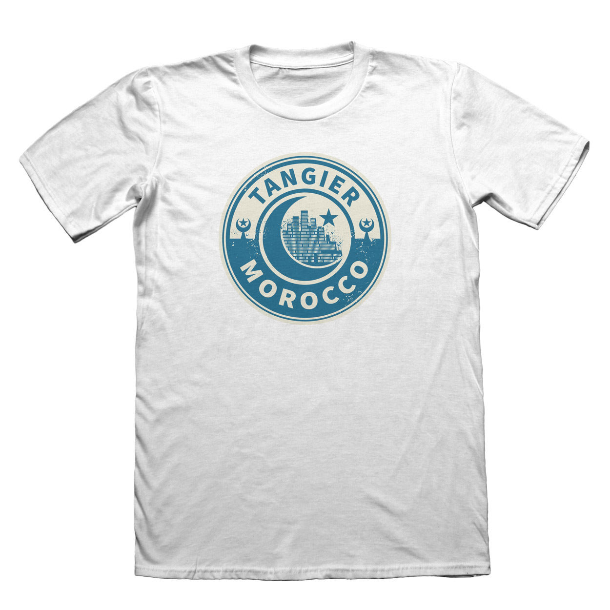Morocco Tangier T-Shirt - Mens Fathers Day Christmas Gift Cotton T-Shirt Fashion T Shirt top tee