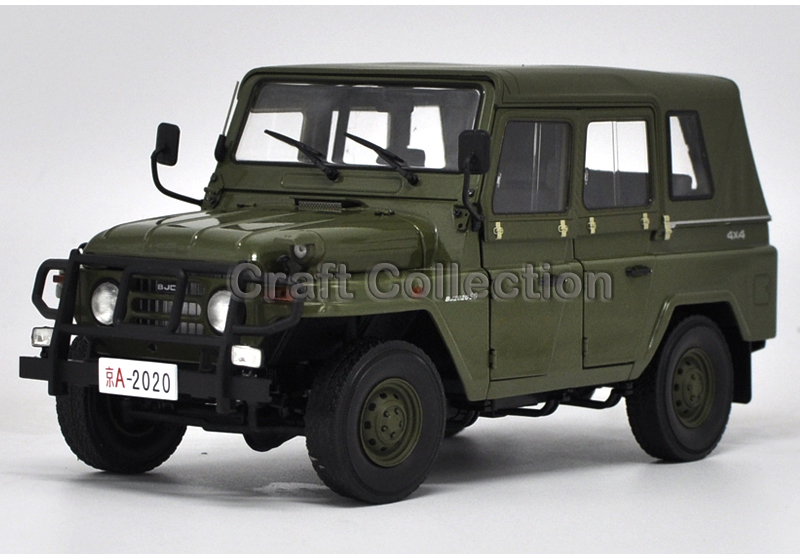 * 1/18 Car Model for Beijing Jeep 2020 BJ2020VJ Off Road Military Vehicle SUV Alloy Toy Car