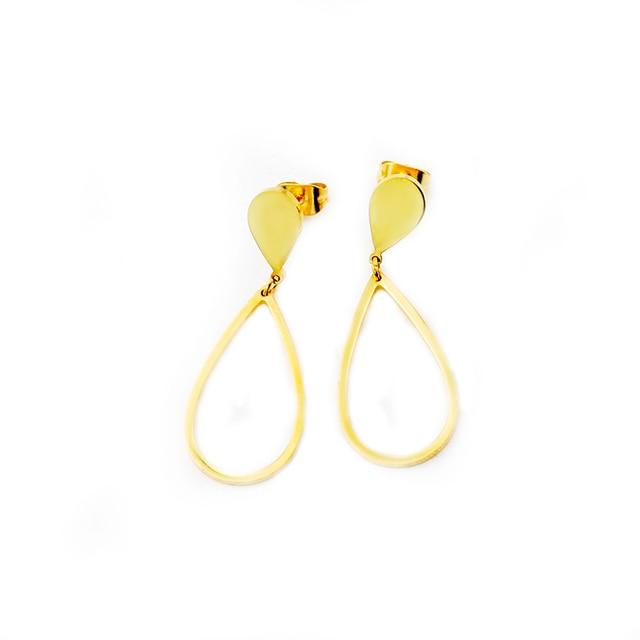 Fashion Simple Teardrop Earrings Vintage For Woman Stainless Steel Raindrop Dangle S Everyday Jewelry Minimalist