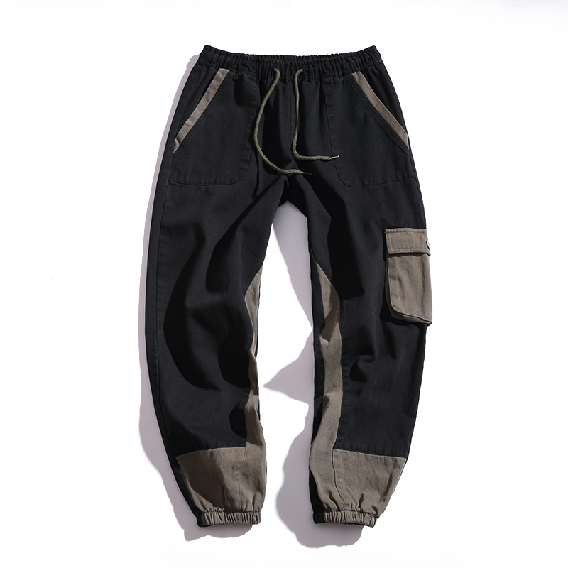 Autumn And Winter E-commerce A088-K18103-P40 Pocket Overalls Wash Will Code Haren Pants Leisure Time Pants 3006-K826-P65