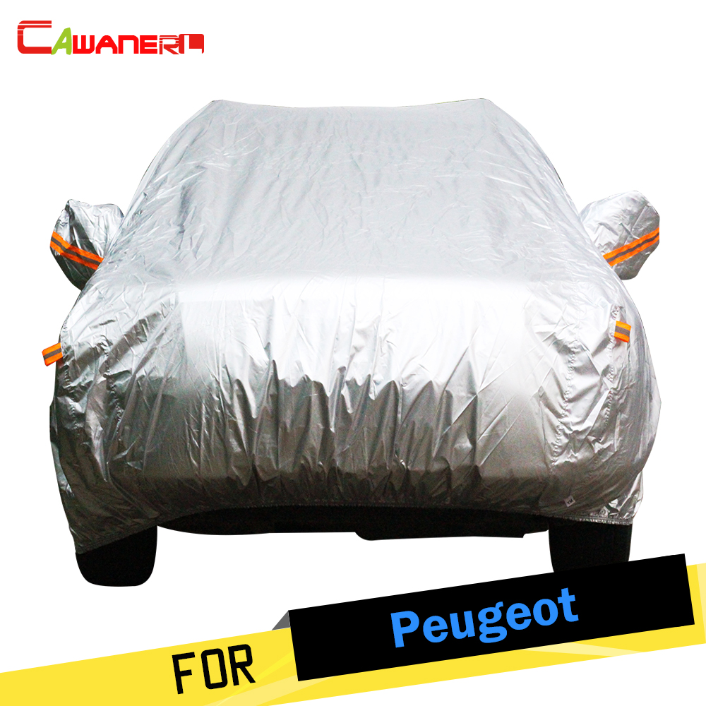 Cawanerl Auto Car Cover Sun Rain Snow Resistant Anti UV Cover For Peugeot 508 807 Partner RCZ 301 Tepee Bipper Expert Partner buildreamen2 new car cover auto sun shield anti uv rain snow protector cover waterproof for peugeot 1007 2008 207 307 4008 405