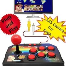 Подключи и играй, Ретро ТВ Видео аркадная Игровая приставка с джойстиком, Игровая приставка с 145 различными играми для sega Megadrive RCA выход