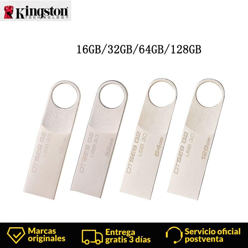 Kingston DataTraveler SE9 G2 USB Flash Disk Mini Pendrive 16GB/32GB/64GB/128GB Capless Metal USB Pen Drives Memory Flash U Disk
