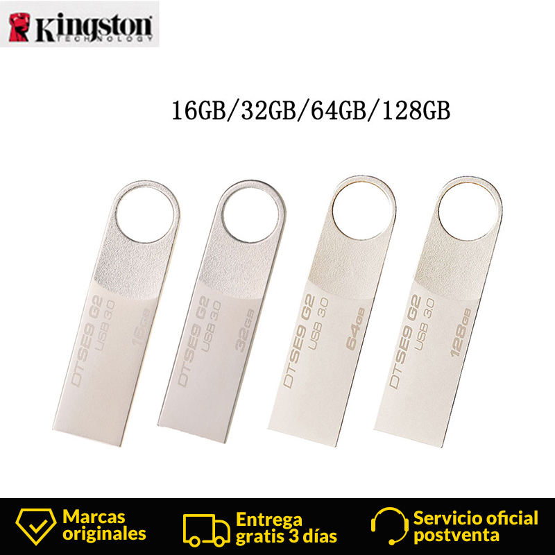 Kingston DataTraveler SE9 G2 USB Flash Disk mini usb-stick 16 GB/32 GB/64 GB/128 GB capless Metall USB Pen Usb-speicher Flash-laufwerke U Disk image