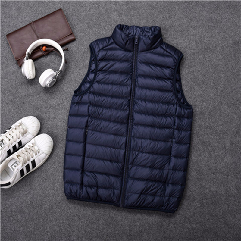 2019 Winter Fashion Brand Light Jacket Duck Down Jackets Men Sleeveless Packable Streetwear Feather Coat Warm Vest Men Clothes