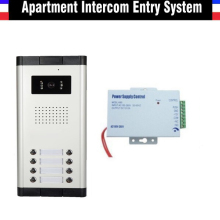 8 Units apartment video door phone intercom system apartment intercom system color wired video door phone intercom system
