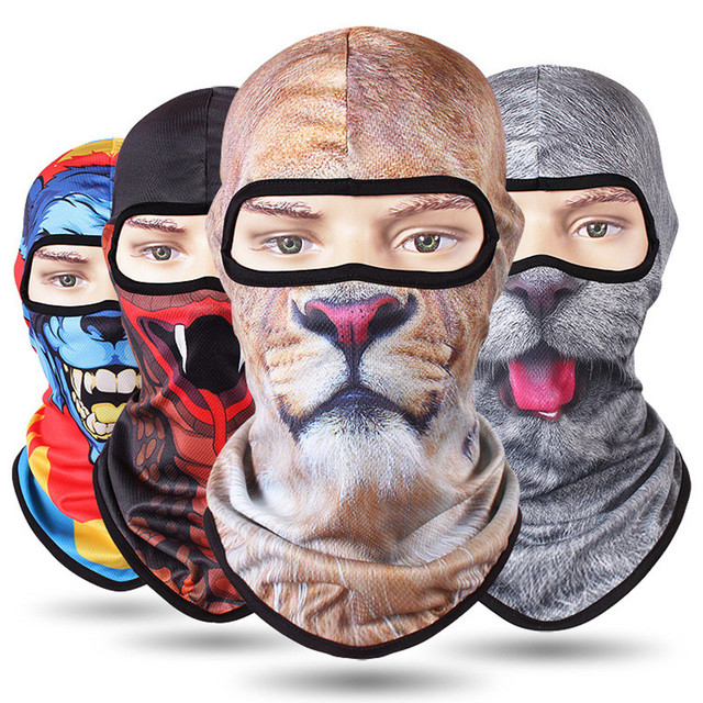Full Face Mask full Winter Warm Face Mask Motorcycle Scarf Head Windproof Sunscreen 3D Cs Caps Animal Cycling Hiking Skiing Mask 1