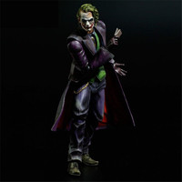 [Funny] Original box 21cm Playarts PLAY ARTS KAI Batman The Dark Knight The Joker PVC Action Figure collection Model Toy gift