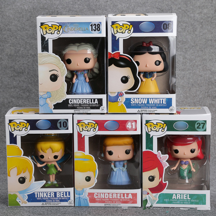 FUNKO POP Princess Cinderella Tinker Bell Ariel Snow White ...