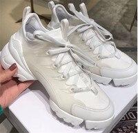 Новинка 2019 года; Модные женские кроссовки на толстом каблуке; женская повседневная обувь на шнуровке; большие размеры; теннисная обувь из на