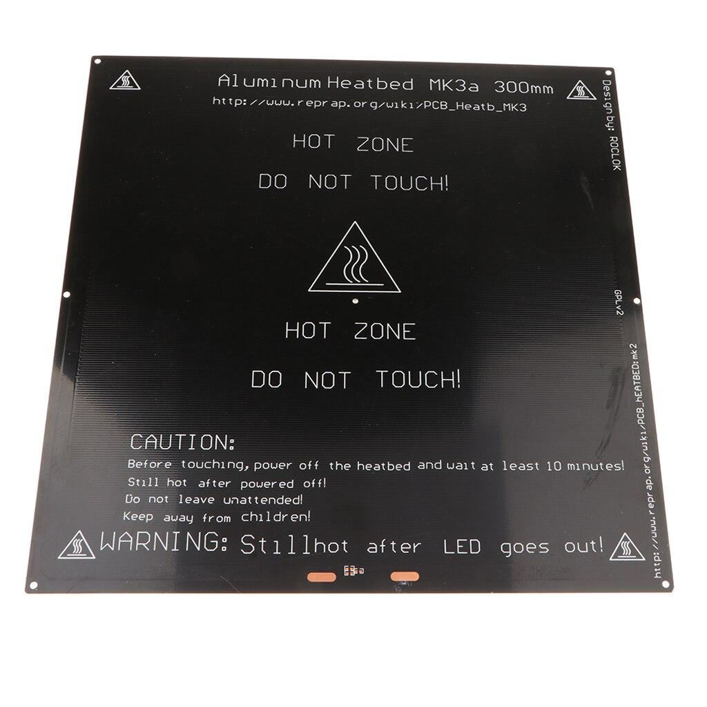 Chauffée Lit 300x300 En Aluminium PCB Heatbed 12 v 24 v Chaleur lit pour MK3 3D Imprimante