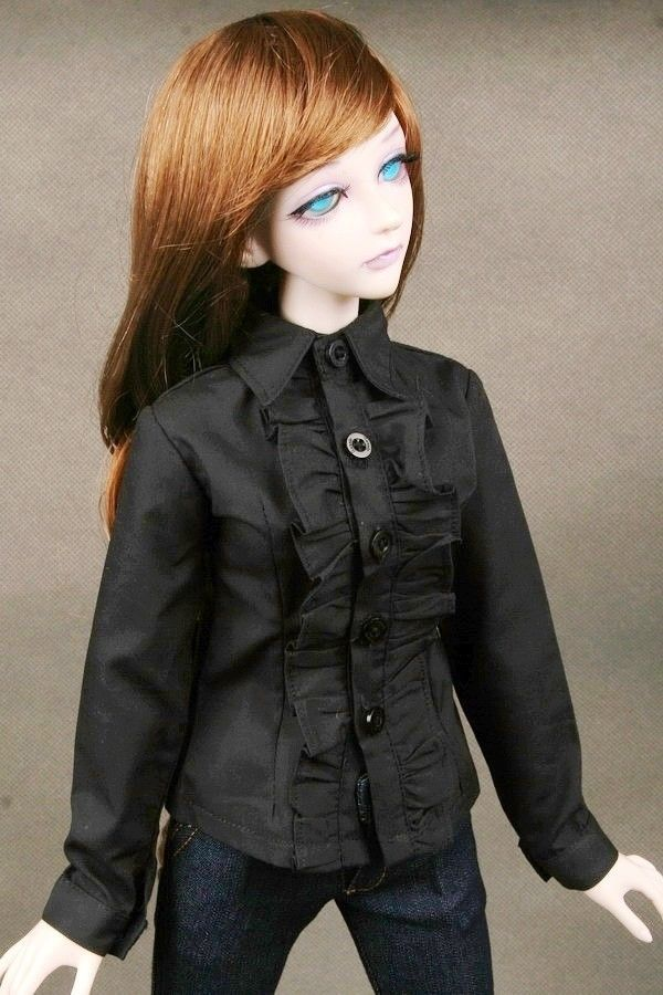 [wamami] 80# Black Clothes/Shirt 1/3 SD DOD BJD Dollfie handsome grey woolen coat belt for bjd 1 3 sd10 sd13 sd17 uncle ssdf sd luts dod dz as doll clothes cmb107
