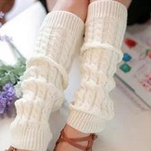 Осенняя женская обувь и зима теплая плотная Нитки толстые вязаные Гольфы наколенники для танцев удобные ботинки Носки гетры