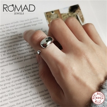 ROMAD 925 Sterling Silver Rings For Women Elegant Smooth Water Drop Open Ring Jewelry Fine Jewelr Charm bague femme