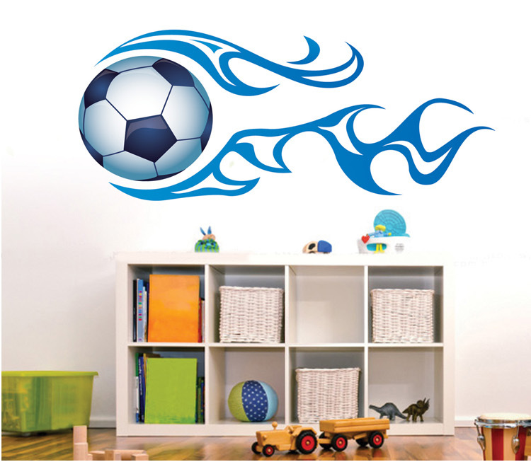 New listing can remove PVC wall stickers boy room decoration football wall stickers  QL-090