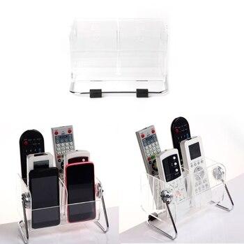 6 Grid Desktop Finishing Holder TV Remote Control Phone Key Pen Acrylic Organizer Storage Box Clear Stand Holder